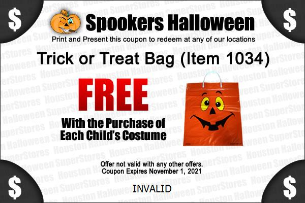 Houston Spookers Halloween Coupon