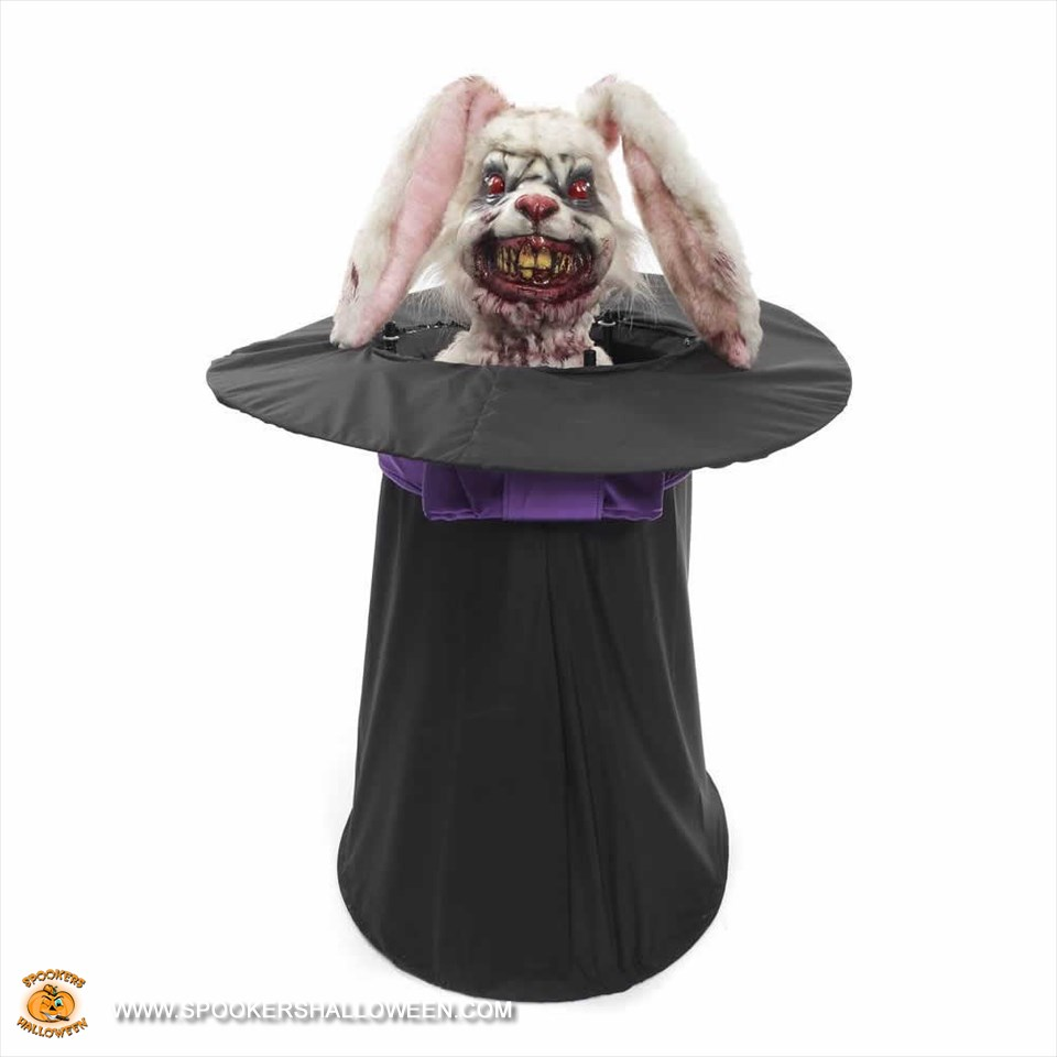 sc 1 st  Spookers Halloween & Animated Rabbit in a Hat Halloween Home Decor Spookers Halloween