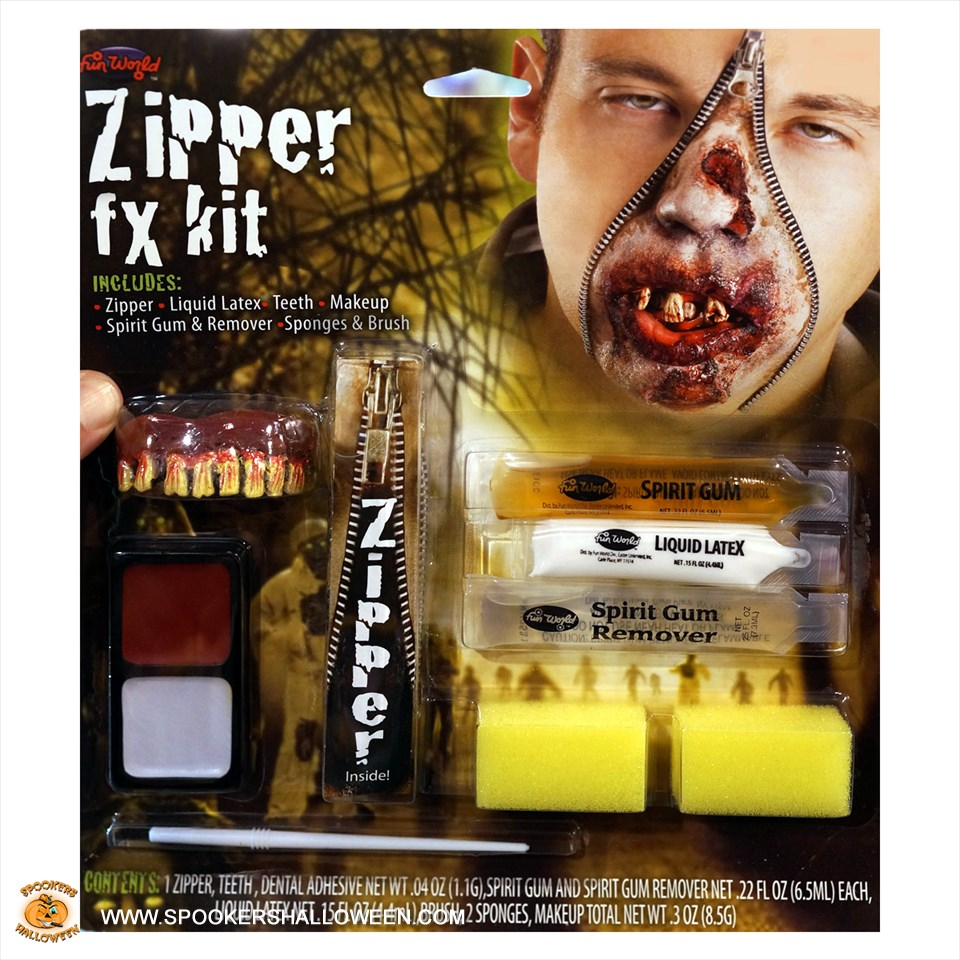 Zipper Fx Kit Costume Makeup